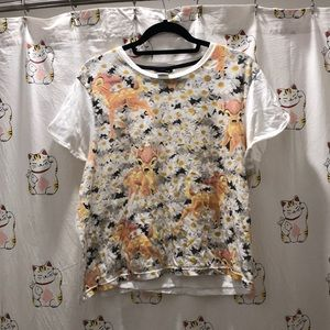 Topshop Disney Bambi Sleeping Top